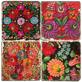 Matyo Hungarian Pattern Coaster Set