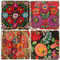 Matyo Hungarian Pattern Coaster Set
