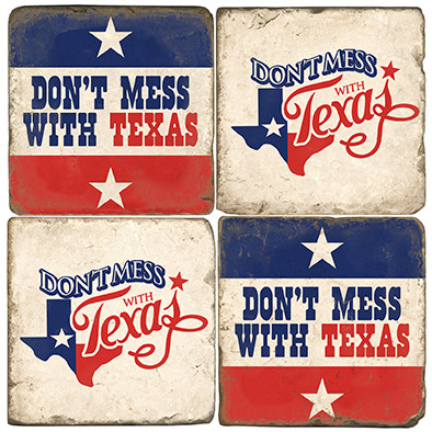 Don't Mess With Texas Coaster Set