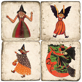 Spooky Witches Coaster Set