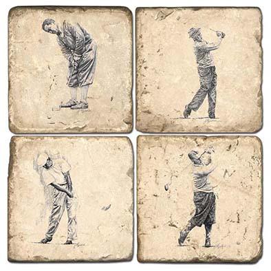 Golf Coaster Set