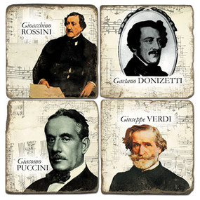 Classical Composers Coaster Set