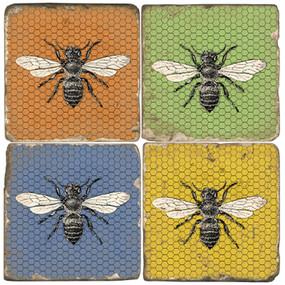 Colorful Bee Coaster Set