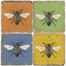 Colorful Bee Coaster Set