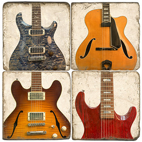 Mixed Electric Guitar Coaster Set