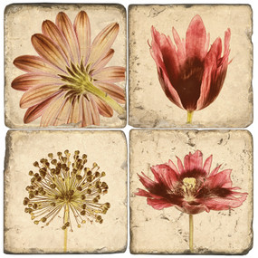 Flower Negatives Coaster Set