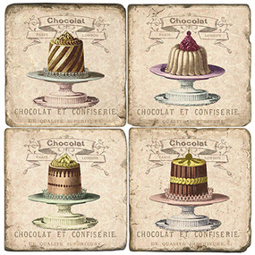French Cake Platters Coaster Set