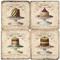 French Cake Platters Coaster Set