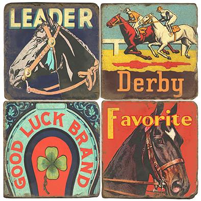 Horse Racing Coaster Set