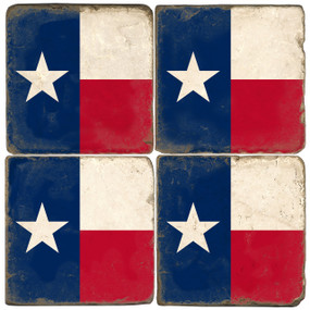 Texas Flag Coaster Set