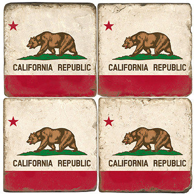 California State Flag Coaster Set