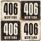 Montana Area Code 406 Coaster Set