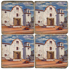 Old Spanish Mission Coaster Set