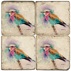 Watercolor Bird Coaster Set
