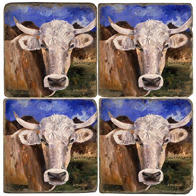 Mountain Cattle Coaster Set