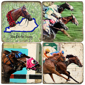 Kentucky Derby Themed Coaster Set