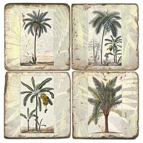 Tropical Palms Coaster Set