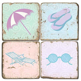 Colorful Beach Themed Coaster Set