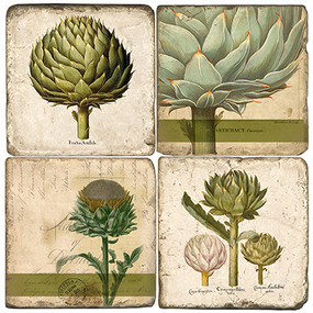 Botanical Artichoke Coaster Set