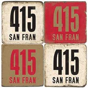 San Francisco Area Code 415 Coaster Set