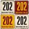 Washington DC Area Code 202 Coaster Set