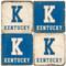 Kentucky Themed Coaster Set.  Handmade Marble Giftware by Studio Vertu.