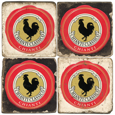 Chianti label coaster set
