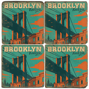 Brooklyn New York Coaster Set