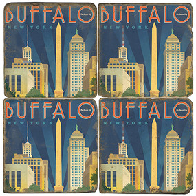 Buffalo New York Coaster Set
