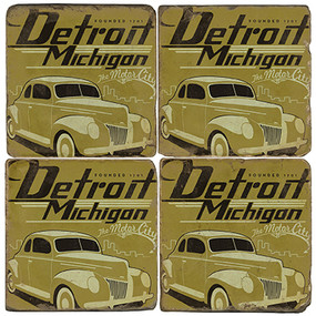 Detroit, Michigan Coaster Set