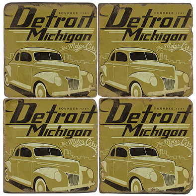 Detroit, Michigan Coaster Set