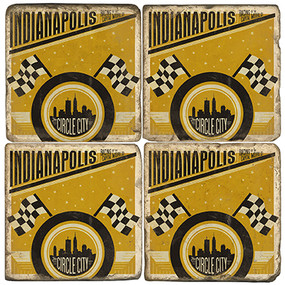 Indianapolis, Indiana Coaster Set