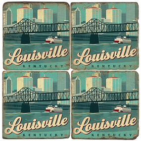 Louisville, Kentucky Coaster Set
