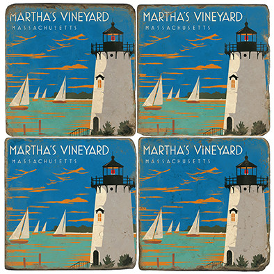 Martha's Vineyard Coaster Set