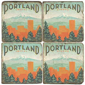 Portland, Oregon Coaster Set