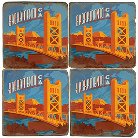 Sacramento, California Coaster Set