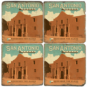 San Antonio, Texas coaster set.
