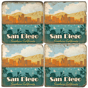 San Diego, California Coaster Set