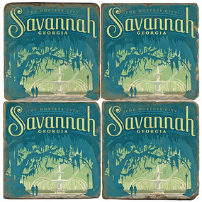 Savannah, Georgia Coaster Set