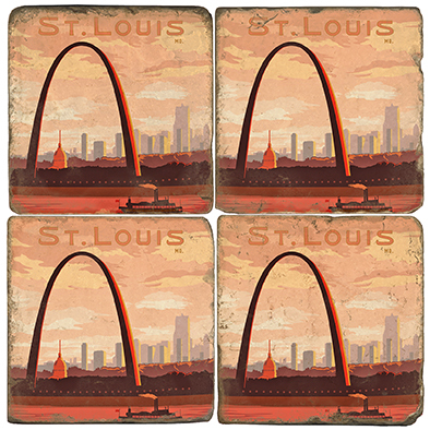 St. Louis Arch Coaster Set