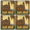 San Jose California Coaster Set