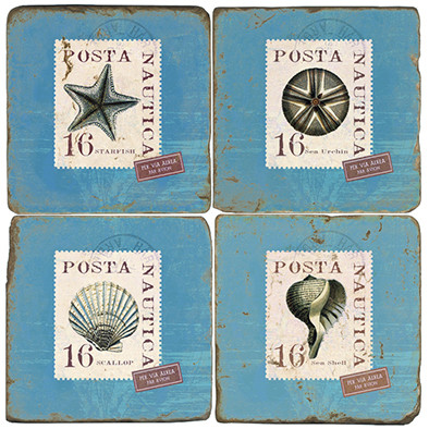 Shell Stamps Coaster Set
