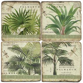 Vintage Palms Coaster Set