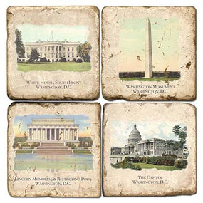 Washington DC Landmark Coaster Set
