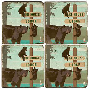 Bear Family Coaster Set. Illustration by Anderson Design Group.