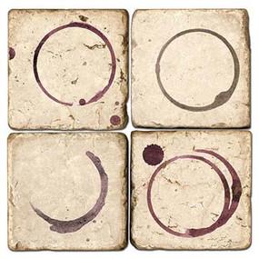 Wine Rings Coaster Set