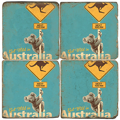 Wild Australia Coaster Set. Illustration by Anderson Design Group.