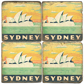Sydney, Australia Coaster Set.  Illustration by Anderson Design Group.