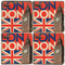 Big Ben, London Coaster Set.  Illustration by Anderson Design Group.