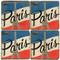 Paris, France Flag Coaster Set. Illustration by Anderson Design Group. Handmade Marble Giftware by Studio Vertu.